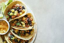 Homemade Vegan Taco Food Photo...