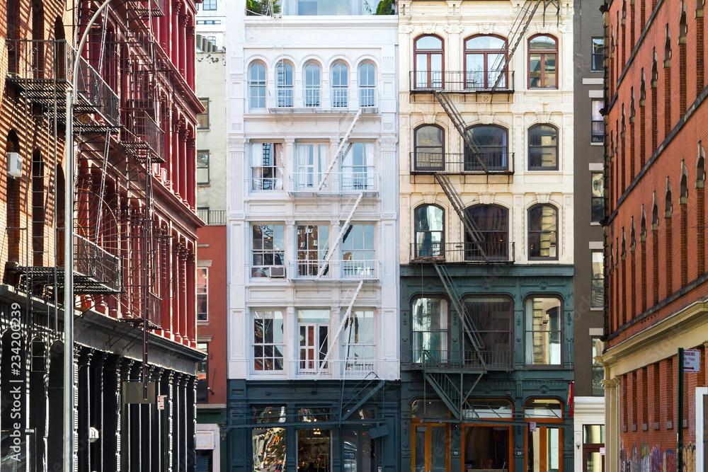 Fototapety, obrazy: Old Buildings in Soho Manhattan, New York City