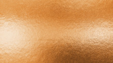 Copper Gold Texture Metallic Wrapping Foil Paper Shiny Orange Background For Wall Paper Decoration Element