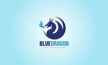 Blue Dragon - Vector Logo