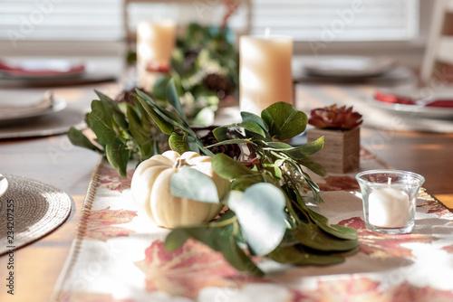 Fotografie, Tablou  Holiday table decor background