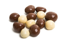 Nuts In Chocolate Isolated