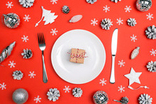 Festive Table Setting With Cut...