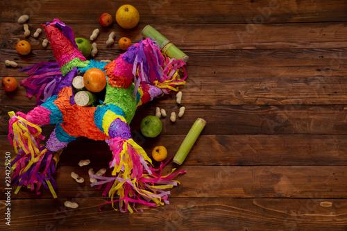 Piñata on table Canvas Print