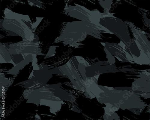 Pinturas sobre lienzo  Seamless Brush Stroke Camouflage Pattern