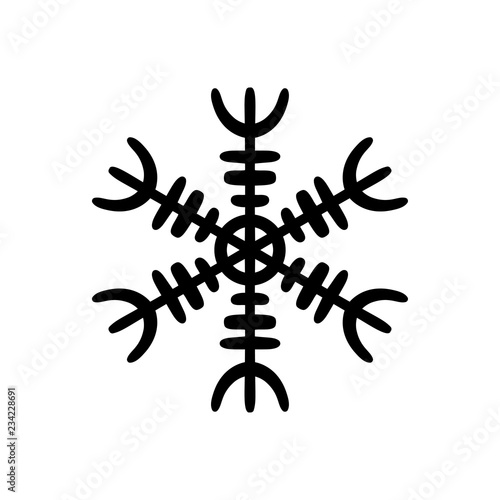 Photographie Simple black hand-drawn icon of a snowflake