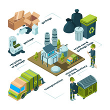 Waste Recycling Infographic. G...