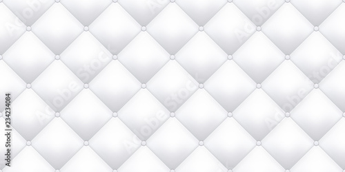 White leather upholstery texture pattern background Tableau sur Toile