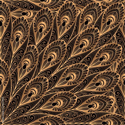 luksusowy-tlo-wektor-zloty-czarny-paw-upierza-krolewskiego-wzor-bezszwowego-indyjski-projekt-orientalny-na-tapete-jogi-ornament-salon-pieknosci-spa-wesele-karty-wesele-papier-pakowy-urodziny