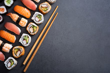 Set Of Sushi Food With Copy Sp...