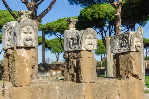 Photo Ostia antica in Rome, Italy