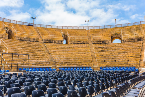 Fotobehang Theater The oldest Roman amphitheater in Israel