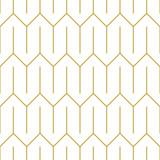 Stylowy ornament liniowy. Bezszwowe wektor wzór w złoto - 234240822
