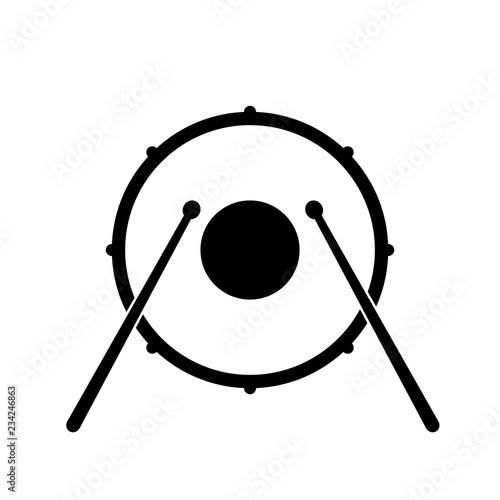 Drum icon, logo on white background Poster Mural XXL