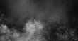 Leinwandbild Motiv Fog or smoke isolated special effect. White cloudiness, mist or smog background.