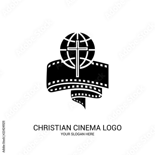 Christian cinema logo Wallpaper Mural