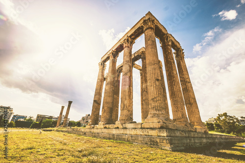 Ruins of the Temple of Olympian Zeus at Athens Canvas Print