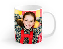 Big Colorful Cup Isolated On A White Background A Child Printed On It