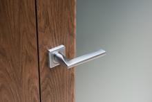 Close-up Of Modern Steel Door ...