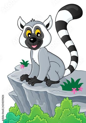 Staande foto Voor kinderen Lemur theme image 2