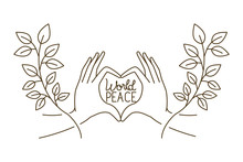 Hands Forming A Symbol Of Heart And World Peace Avatar Character