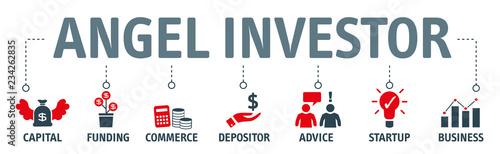 Fototapety, obrazy: Angel investor Concept vector illustration