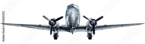Montage in der Fensternische Flugzeug historical aircraft isolated on a white background