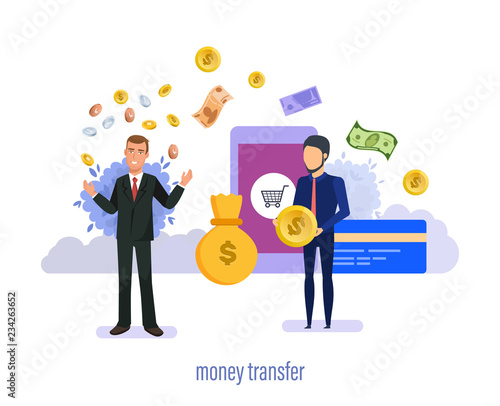 Financial Currency Transactions With Money Purchases Transfer Conversion Secure Payments