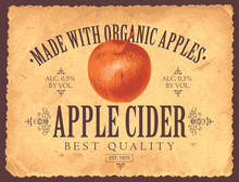 Vector Label For Apple Cider W...