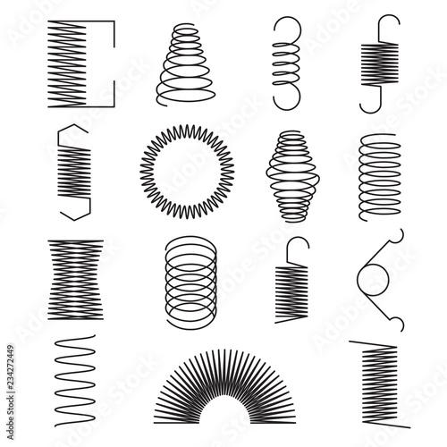 Fotografie, Obraz  Metal spring icons