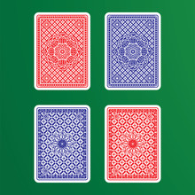 Playing Cards Back. Vector Ill...