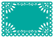 Papel Picado Vector Template D...