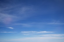 The Thin Cloud With Blue Sky S...