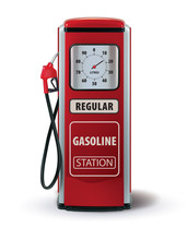 Vintage Red Gasoline Pump. Vec...