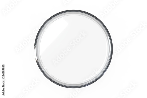 Fotografía  Transparent glass Petri dishes on white background