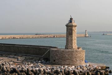 Latarnia morska w porcie a Livorno