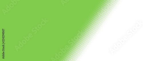 Obraz na plátně  Gepunkteter schräger Farbübergang weiß grün