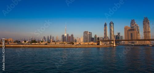 Printed kitchen splashbacks Brooklyn Bridge Dubai cityscape in United Arab Emirates