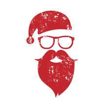 Santa Clause Grunge Red