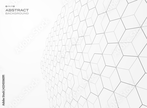 Abstract of pentagon pattern geometric perspective background.