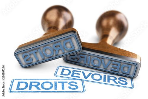 Obraz Droit et devoirs concept - fototapety do salonu