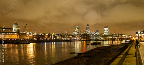 London at night skyline