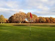 Golf Course In Autumn Parkland, Chorleywood, Hertfordshire