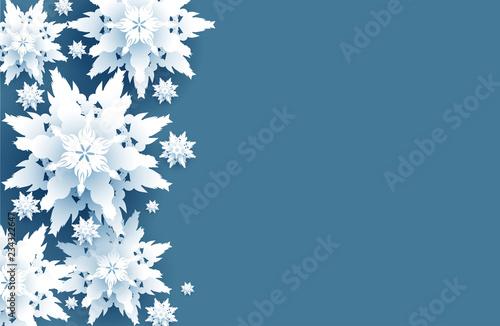 Fototapete - Realistic snow design