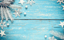 Vintage Christmas And Winter Background