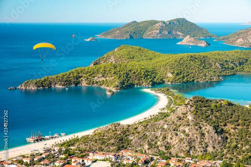 Photo  Oludeniz lagoon in sea landscape view of beach