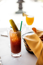 Bloody Mary With Mimosa In Bac...