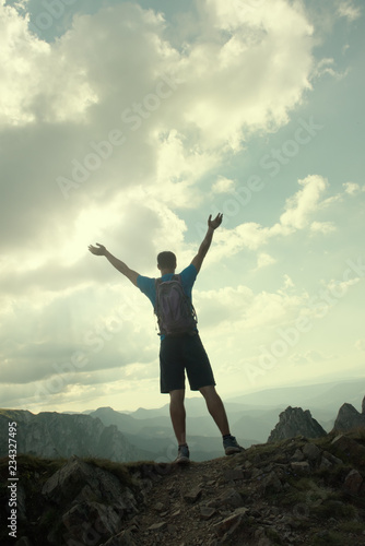Fototapeta successful people sport, motivation, inspiration obraz na płótnie