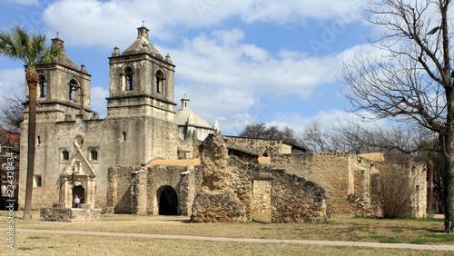 Mission Concepcion, San Antonio Missions National Historical Park, San Antonio, Canvas Print