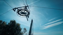 Detail Of Ski Lift Wheel And W...